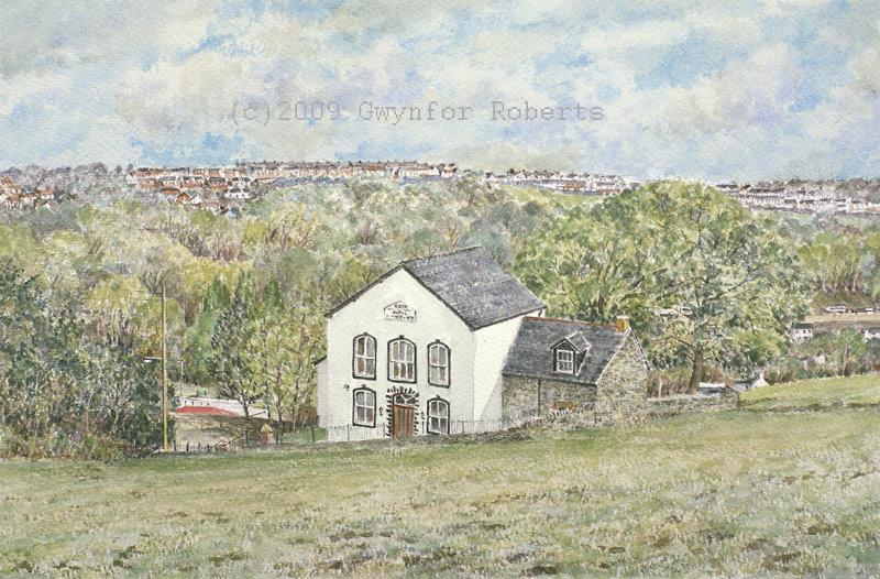 The Rock Chapel Near Blackwood Paintings Of Welsh Chapels